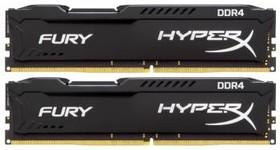 Модуль памяти KINGSTON HyperX FURY Black HX421C14FBK2/8 DDR4 - 2x 4Гб 2133, DIMM, Ret