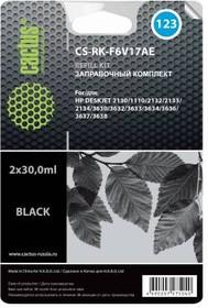 Заправочный комплект CACTUS CS-RK-F6V17AE, для HP, 60мл, черный