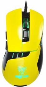 Мышь OKLICK Snake 865G оптическая проводная USB, черный и желтый [gm-26 yellow]