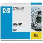 Двойная упаковка картриджей HP Q1338D черный