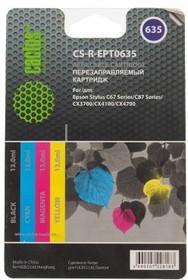 Заправочный комплект CACTUS CS-R-EPT0635, для Epson, 52мл, многоцветный