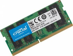 Модуль памяти CRUCIAL CT8G4SFD8213 DDR4 - 8Гб 2133, SO-DIMM, Ret