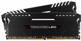 Модуль памяти CORSAIR Vengeance LED CMU32GX4M2C3000C15 DDR4 - 2x 16Гб 3000, DIMM, Ret