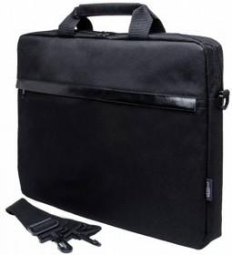 """Сумка для ноутбука PC PET HQ Classic 15.6"""" полиэстер черный [pcp-1002bk]"""