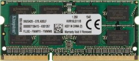 Модуль памяти KINGSTON VALUERAM KVR16LS11/8 DDR3L - 8Гб 1600, SO-DIMM, Ret