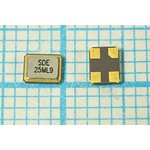 Кварц 25МГц в корпусе SMD 3.2x2.5мм, нагрузка 9пФ, расширенный интервал ...