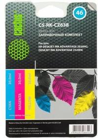 Заправочный комплект CACTUS CS-RK-CZ638, для HP, 90мл, многоцветный