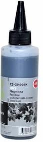 Чернила CACTUS CS-GI490BK, для Canon, 100мл, черный