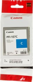 Картридж CANON PFI-107C 6706B001, голубой