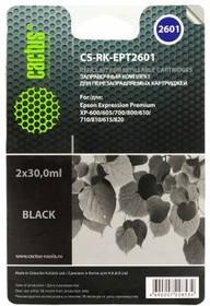 Заправочный комплект CACTUS CS-RK-EPT2601, для Epson, 60мл, черный