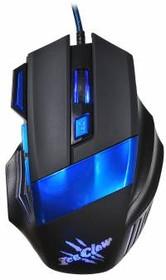 Мышь OKLICK 775G оптическая проводная USB, черный и синий [x3]