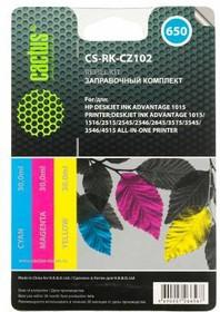 Заправочный комплект CACTUS CS-RK-CZ102, для HP, 90мл, многоцветный
