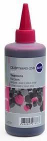 Чернила CACTUS CS-EPT6643-250, для Epson, 250мл, пурпурный