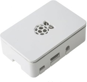 Фото 1/4 Raspberry Pi Case [White] (ASM-1900036-11), Корпус для Raspberry Pi B+/2В/3В.