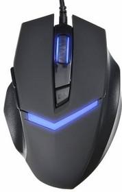 Мышь OKLICK 825G оптическая проводная USB, черный и синий [mw-1405]