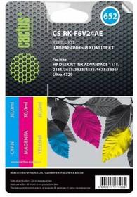 Заправочный комплект CACTUS CS-RK-F6V24AE, для HP, 90мл, многоцветный