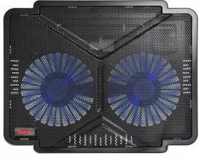 """Подставка Buro BU-LCP140-B214 14""""335x265x22мм 1xUSB 2x 140ммFAN 480г металлическая сетка/пластик чер"""