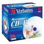 Оптический диск CD-R VERBATIM 700Мб 52x, 10шт., jewel case ...