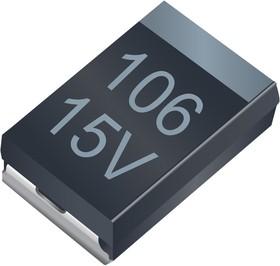 T4ZD106K015CRLB4900, CAPACITOR, TANTALUM, 10UF, 15V, 1510