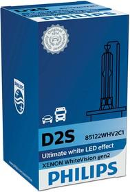Фото 1/3 Лампа автомобильная D2S 85V-35W (P32d-2) WhiteVision gen 2 (Philips)