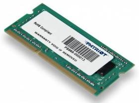 Модуль памяти PATRIOT PSD34G133381S DDR3 - 4Гб 1333, SO-DIMM, Ret