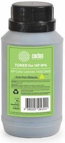 Тонер CACTUS CS-THP6Y-90, для HP CLJ 1600/2600, желтый, 90грамм, флакон