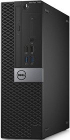 Компьютер DELL Optiplex 7040, Intel Core i5 6500, DDR4 4Гб, 500Гб, Intel HD Graphics 530, DVD-RW, Windows 7 (7040-0071)