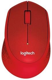 Мышь LOGITECH M330 Silent Plus оптическая беспроводная USB, красный [910-004911]