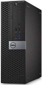Компьютер DELL Optiplex 3046, Intel Core i3 6100, DDR4 4Гб, 500Гб, Intel HD Graphics 530, DVD-RW, Windows 7 (3046-0148)