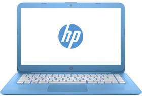 "Ноутбук HP Stream 14-ax004ur, 14"", Intel Celeron N3050, 1.6ГГц, 4Гб, 32Гб SSD, Intel HD Graphics , Windows 10, голубой [y7x27ea]"