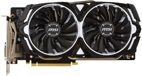 Видеокарта MSI GeForce GTX 1060, GTX 1060 ARMOR 3G OCV1, 3Гб, GDDR5, OC, Ret