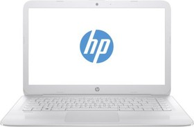 "Ноутбук HP Stream 14-ax007ur, 14"", Intel Celeron N3050, 1.6ГГц, 2Гб, 32Гб SSD, Intel HD Graphics , Windows 10, белый [y7x30ea]"