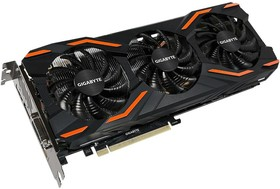 Видеокарта GIGABYTE GeForce GTX 1080, GV-N1080WF3OC-8GD, 8Гб, GDDR5X, OC, Ret