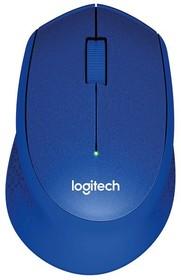 Мышь LOGITECH M330 Silent Plus оптическая беспроводная USB, синий [910-004910]