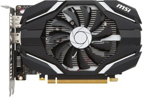 Видеокарта MSI GeForce GTX 1050TI, GTX 1050 Ti 4GT OC, 4Гб, GDDR5, OC, Ret