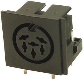 FC680806, Разъем DIN Аудио / Видео, 6 контакт(-ов), Гнездо, Монтаж на Печатную Плату