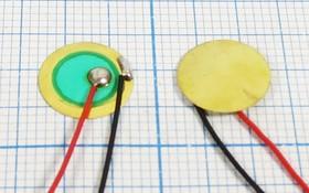 Пьезо диафрагма на бронзовой основе 10.5x0.14мм, с защитой от окисления и гибкими выводами, защита пб 10,5x0,14\\D\ 9\2L50\FT-10,5T-9,0ALG\K