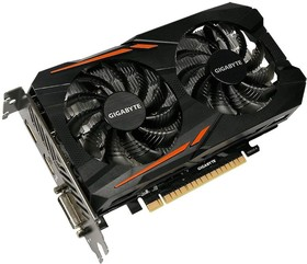 Видеокарта GIGABYTE GeForce GTX 1050, GV-N1050OC-2GD, 2Гб, GDDR5, OC, Ret