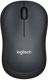 Мышь LOGITECH M220 Silent оптическая беспроводная USB, темно-серый [910-004878]