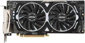 Видеокарта MSI Radeon RX 480, RX 480 ARMOR 8G OC, 8Гб, GDDR5, OC, Ret