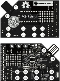 Печатная плата PCB Ruler II, Карточка радиоконструктора