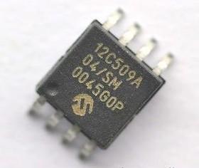Фото 1/2 PIC12C509A-04I/SM, Микроконтроллер 8-Бит, PIC, 4МГц, 1.5КБ (1Кx12) OTP, 5 I/O [SO-8]