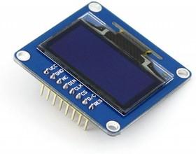 Фото 1/3 1.3inch OLED (B), OLED дисплей с разрешением 128х64px, интерфейсы SPI/I2C, прямой контакный разъем