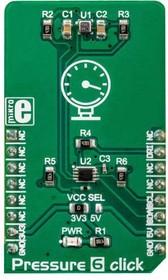 Фото 1/2 MIKROE-3216, BM1386GLV Board Mount Pressure Sensor Click Board