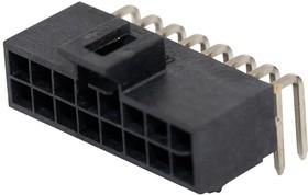 105314-1316, Разъем типа провод-плата, 2.5 мм, 16 контакт(-ов), Штыревой Разъем, Nano-Fit 105314 Series