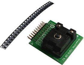 SLG46538V-SKT, Development Kit Accessory, QFN (2mm x 3mm) Socket Adapter, 50 x SLG46538V Samples, GreenPAK