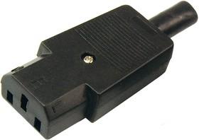 Фото 1/3 11-0004-9, Сетевой штекер на шнур (1 шт.) (пакет БОПП)