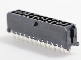 0449142401, Conn Power HDR 24 POS 3mm Press Fit ST Thru-Hole 24 Terminal 1 Port Micro-Fit 3.0 CPI™ Tray