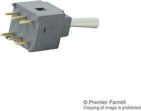 Фото 1/2 A22AP, Switch Toggle ON None ON DPDT Bat Lever PC Pins 0.1A 28VAC 28VDC 0.4VA PC Mount