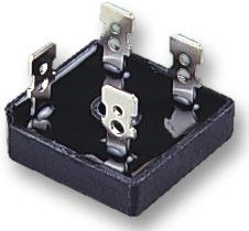 GBPC3506+, Мостовой выпрямитель, 1 Фаза, 600 В, 35 А, Модуль, 1.1 В, 4 вывод(-ов)